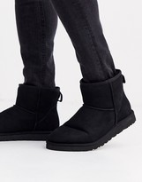 UGG Classic mini boots in black suede