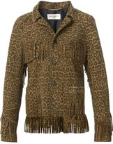 Saint Laurent Curtis fringe jacket - women - Silk/Goat Skin - 36