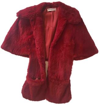 Sonia Rykiel Red Rabbit Coat for Women Vintage
