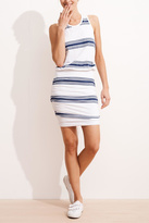 Sundry Stripe Rouched Dress
