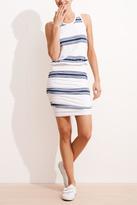Sundry Stripe Rouched Dress