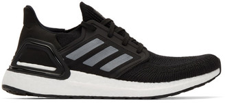 adidas Black and White UltraBoost 20 Sneakers