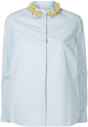 DELPOZO Embellished Mandarin Collar Cotton Shirt