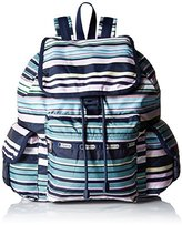 Le Sport Sac Voyager Back pack, Beach Stripe, One Size