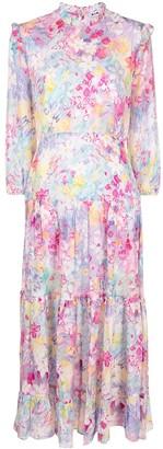 Rixo Monet spring meadow-print tiered dress