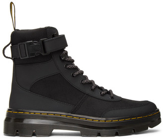 Dr. Martens Black Combs Tech Boots
