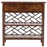 The Well Appointed House Chinese Chippendale Nightstand with Bookshelves-Available in a Variety of Finishes