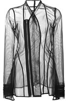 Rick Owens Lilies 'Princess' sheer fitted jacket