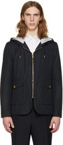Moncler Gamme Bleu Navy Down Hooded Jacket