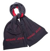 Armani Jeans Men's Blue Polyester Scarf.