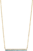 Argentovivo 18K Gold Plated Sterling Silver Blue Bar Pendant Necklace