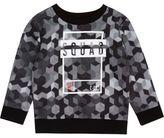 River Island Mini boys grey 'squad' sweatshirt