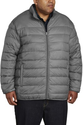 Amazon Essentials Men's Big & Tall Lightweight Water-Resistant Packable Puffer Jacket