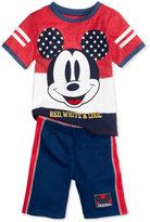Nannette Mickey Mouse T-Shirt & Shorts Set, Toddler & Little Boys (2T-7)