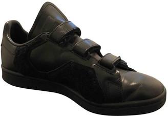 Raf Simons Adidas X \N Black Leather Trainers