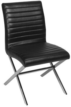 Allan Copley Designs Sasha Upholstered Dining Chair (Set of 2 Color: Black