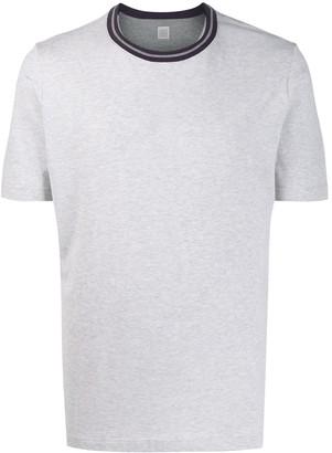 Eleventy contrasting collar T-shirt