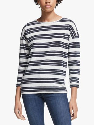 John Lewis & Partners Linen Stripe Top