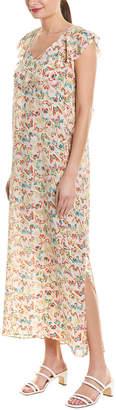 Zadig & Voltaire Reen Butterfly Print Silk Maxi Dress