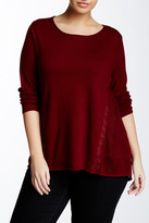 Lucky Brand Inset Lace Tunic (Plus Size)