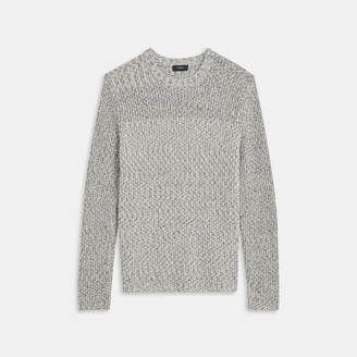 Theory Crewneck Sweater in Speckled Cotton