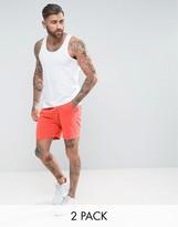 Asos Vest/jersey Shorts 2 Pack White/orange Save