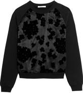 Carven Flocked silk and cotton-jersey sweatshirt