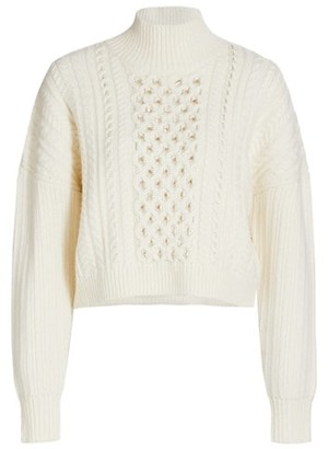 Jonathan Simkhai Gia Chain Cable Turtleneck Sweater