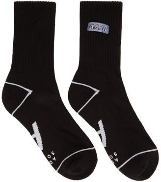 Ader Error Black Lenticular Logo Socks