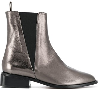 Clergerie Metallic Ankle Boots