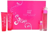 Perry Ellis 360 Pink Gift Set for Women, 4 Piece