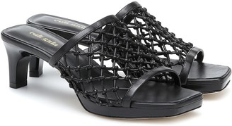 Cult Gaia Sasha woven leather sandals