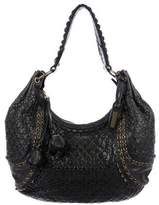 Isabella Fiore Woven Leather Hobo