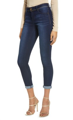 1822 Denim Gold Stitch Ankle Skinny Jeans