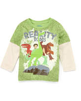 Children's Apparel Network The Good Dinosaur Green 'Reality' Layered Tee - Toddler & Boys