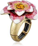 Betsey Johnson Caribbean Queen Flower Stretch Ring, Size 7