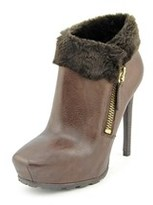 GUESS Ivorie Round Toe Leather Bootie.