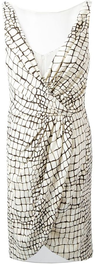 Giambattista Valli crocodile print dress