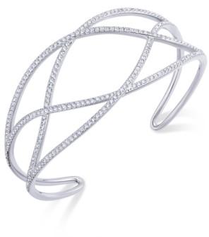 Eliot Danori Pave Laurel Cuff Bracelet, Created for Macy's