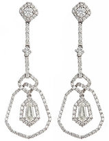 Deco Drop Diamond Earrings