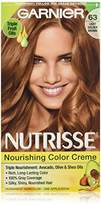 Garnier Nutrisse Nourishing Color Creme, 63 Light Golden Brown (Brown Sugar) (Packaging May Vary)