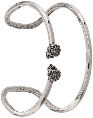 Alexander McQueen S-M Skull double bangle