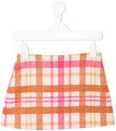 Il Gufo checked mini skirt
