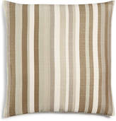 "Hallmart Collectibles Beige Atlantic Stripe Textured 18"" Square Decorative Pillow Bedding"
