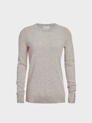 White + Warren Essential Cashmere Crystal Crewneck