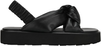 Miu Miu Black Knot Flat Sandals
