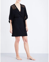 Eberjey Adeline jersey and lace robe