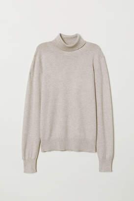 H&M Fine-knit polo-neck jumper
