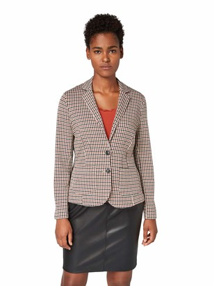 Tom Tailor Casual Women's Fein Karierter Suit Jacket
