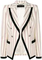 Barbara Bui striped contrast fitted blazer